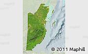 Satellite 3D Map of Belize, lighten