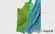 Satellite 3D Map of Belize, single color outside