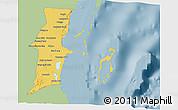 Savanna Style 3D Map of Belize, single color outside