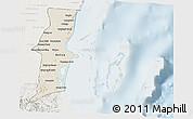 Shaded Relief 3D Map of Belize, lighten