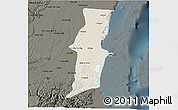 Shaded Relief 3D Map of Belize, darken