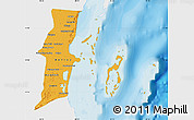Political Map of Belize, single color outside