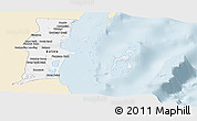 Classic Style Panoramic Map of Belize, single color outside