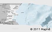 Gray Panoramic Map of Belize