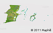 Satellite Panoramic Map of Belize, cropped outside