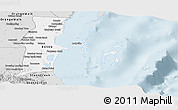 Silver Style Panoramic Map of Belize