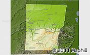 Physical 3D Map of Cayo, darken