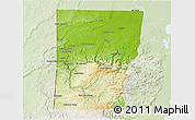 Physical 3D Map of Cayo, lighten