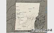 Shaded Relief 3D Map of Cayo, darken
