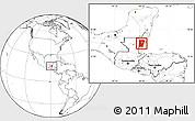 Blank Location Map of Cayo