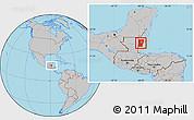 Gray Location Map of Cayo