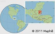 Savanna Style Location Map of Cayo