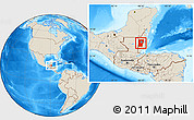 Shaded Relief Location Map of Cayo
