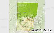 Physical Map of Cayo, lighten