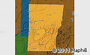 Political Map of Cayo, darken