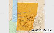 Political Map of Cayo, lighten