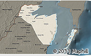 Shaded Relief 3D Map of Corozal, darken