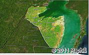 Satellite 3D Map of Corozal, darken