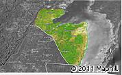 Satellite 3D Map of Corozal, desaturated