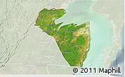 Satellite 3D Map of Corozal, lighten
