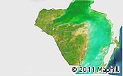 Satellite 3D Map of Corozal, single color outside