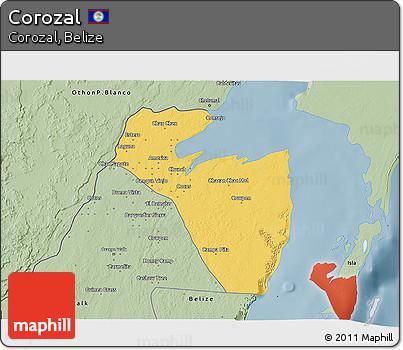 Savanna Style 3D Map of Corozal