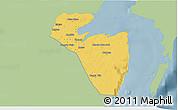 Savanna Style 3D Map of Corozal, single color outside