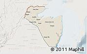 Shaded Relief 3D Map of Corozal, lighten