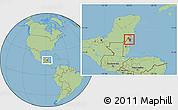 Savanna Style Location Map of Corozal, highlighted parent region