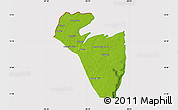 Physical Map of Corozal, cropped outside