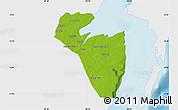 Physical Map of Corozal, single color outside