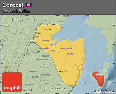 Savanna Style Map of Corozal