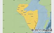 Savanna Style Map of Corozal, single color outside