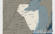 Shaded Relief Map of Corozal, darken