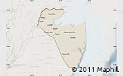 Shaded Relief Map of Corozal, lighten