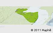 Physical Panoramic Map of Corozal, lighten