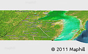 Satellite Panoramic Map of Corozal