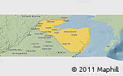 Savanna Style Panoramic Map of Corozal
