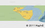 Savanna Style Panoramic Map of Corozal, single color outside