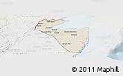 Shaded Relief Panoramic Map of Corozal, lighten