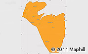 Political Simple Map of Corozal, cropped outside