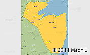 Savanna Style Simple Map of Corozal