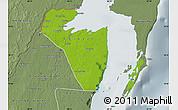 Physical Map of Corozal, semi-desaturated