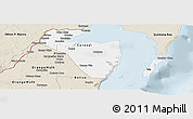 Classic Style Panoramic Map of Corozal