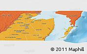 Political Panoramic Map of Corozal
