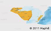 Political Panoramic Map of Corozal, single color outside