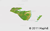 Satellite Panoramic Map of Corozal, cropped outside