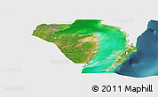 Satellite Panoramic Map of Corozal, single color outside