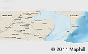 Shaded Relief Panoramic Map of Corozal
