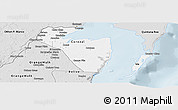 Silver Style Panoramic Map of Corozal